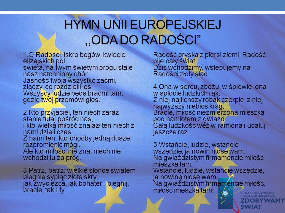 HYMN UNII EUROPEJSKIEJ ,,ODA DO RADOŚCI