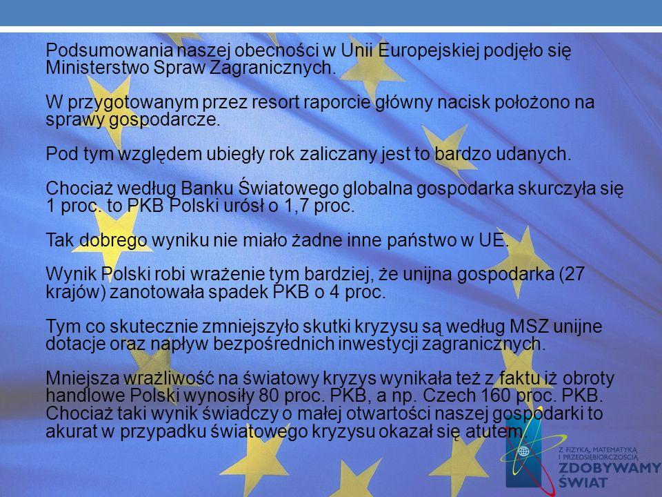 Podsumowania naszej obecności w Unii Europejskiej podjęło się Ministerstwo Spraw Zagranicznych.