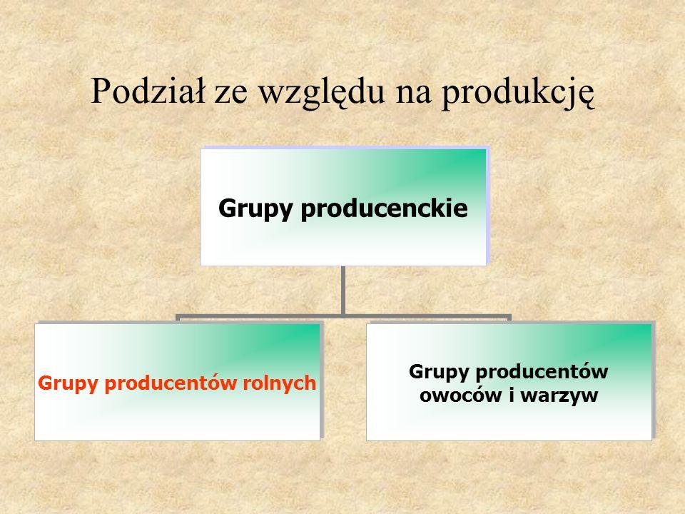 Podział ze względu na produkcję