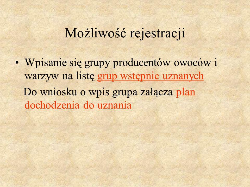 Możliwość rejestracji