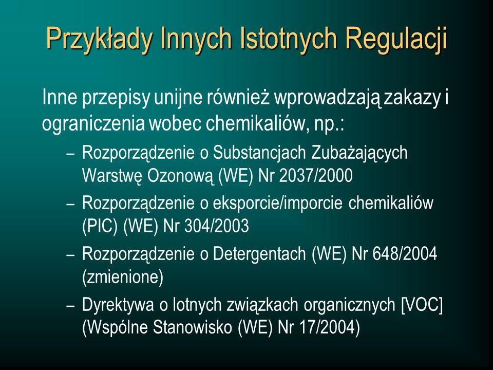 Przykłady Innych Istotnych Regulacji