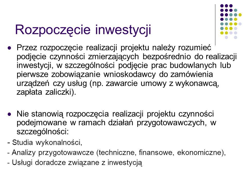 Rozpoczęcie inwestycji