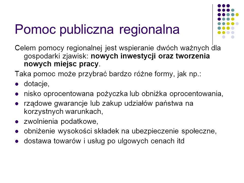 Pomoc publiczna regionalna