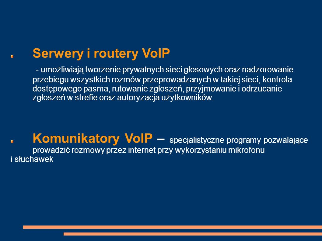 Serwery i routery VoIP