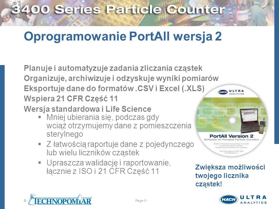 Oprogramowanie PortAll wersja 2
