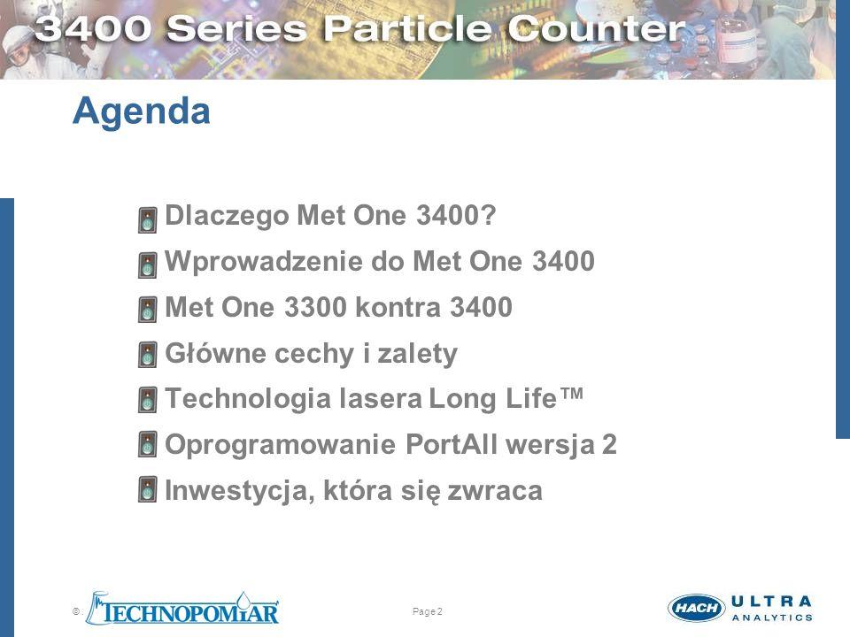 Agenda Dlaczego Met One 3400 Wprowadzenie do Met One 3400