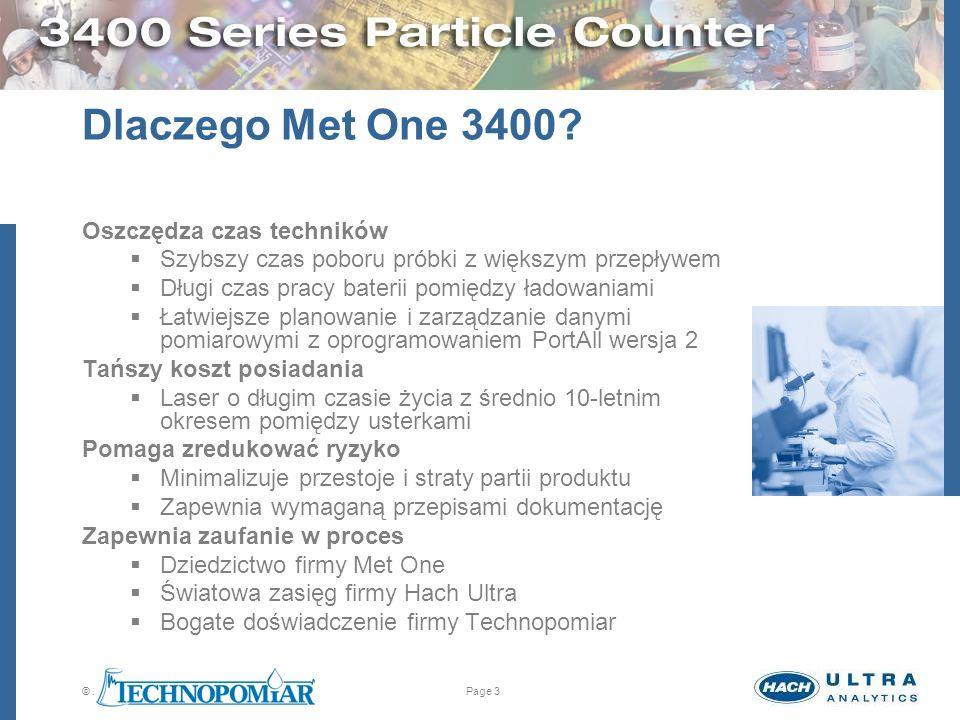 Dlaczego Met One 3400 Oszczędza czas techników