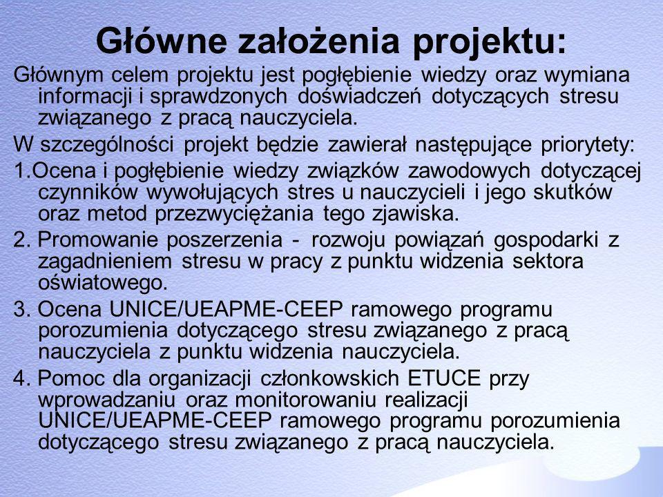 Główne założenia projektu: