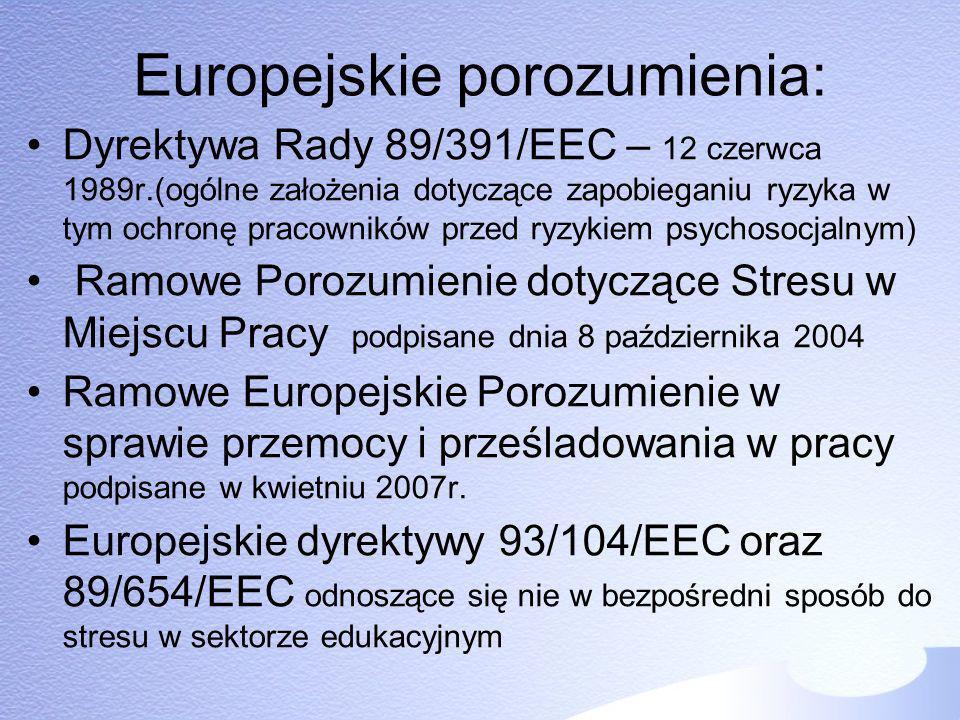 Europejskie porozumienia: