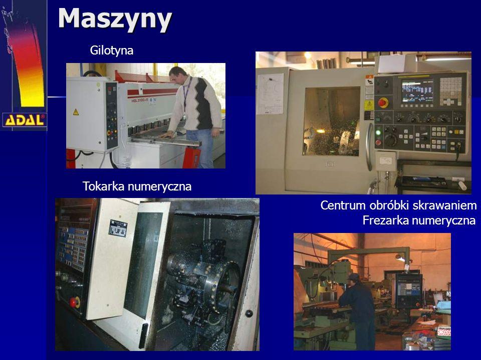 Maszyny Gilotyna Tokarka numeryczna Centrum obróbki skrawaniem
