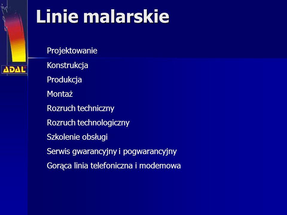 Linie malarskie Projektowanie Konstrukcja Produkcja Montaż