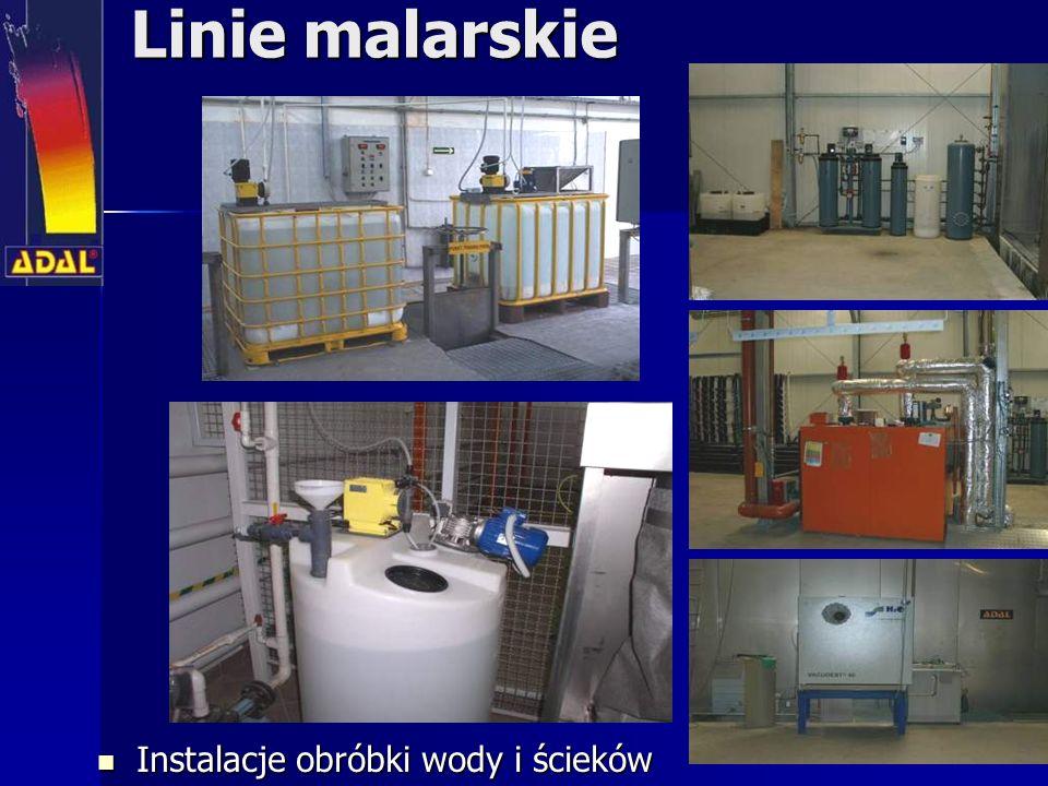Linie malarskie Instalacje obróbki wody i ścieków