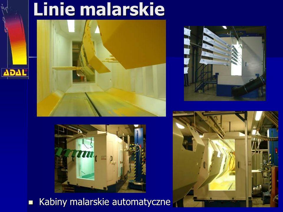 Linie malarskie Kabiny malarskie automatyczne