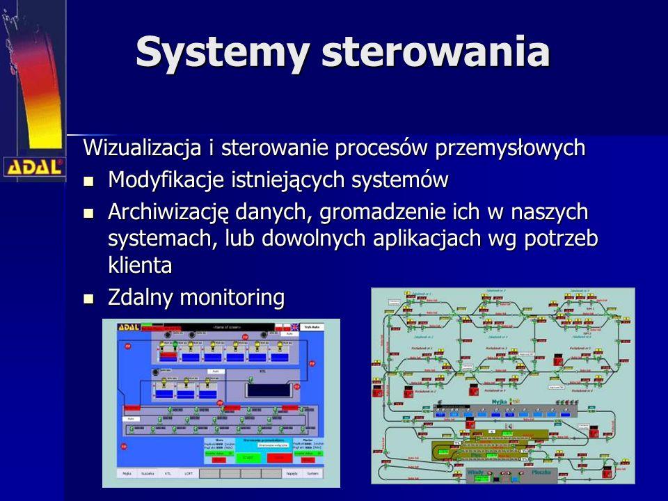 Systemy sterowania Wizualizacja i sterowanie procesów przemysłowych