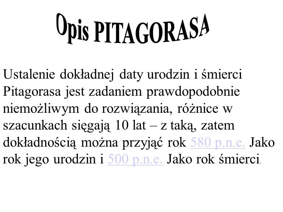 Opis PITAGORASA