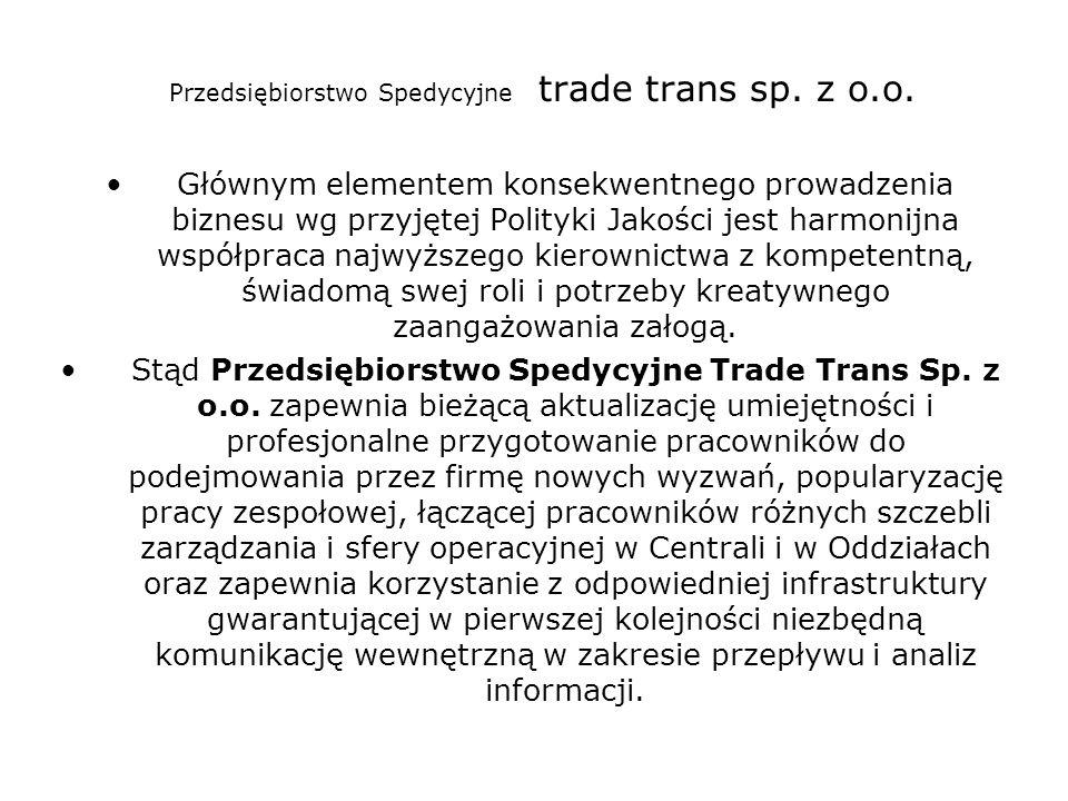 Przedsiębiorstwo Spedycyjne trade trans sp. z o.o.