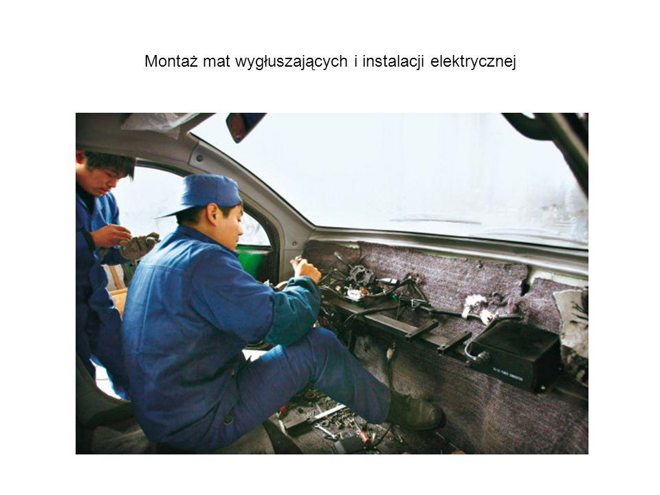 Montaż mat wygłuszających i instalacji elektrycznej
