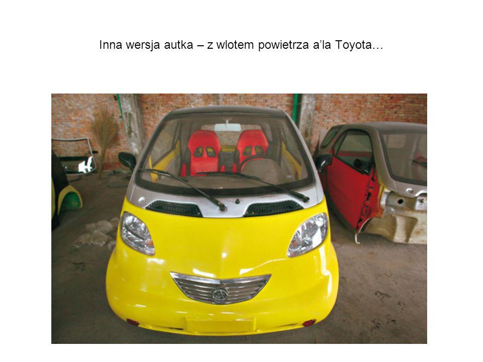 Inna wersja autka – z wlotem powietrza a'la Toyota…