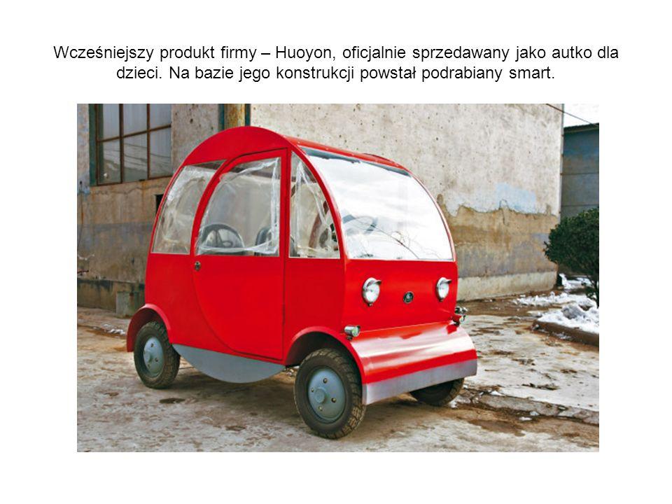 Wcześniejszy produkt firmy – Huoyon, oficjalnie sprzedawany jako autko dla dzieci.