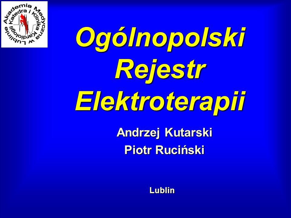 Ogólnopolski Rejestr Elektroterapii