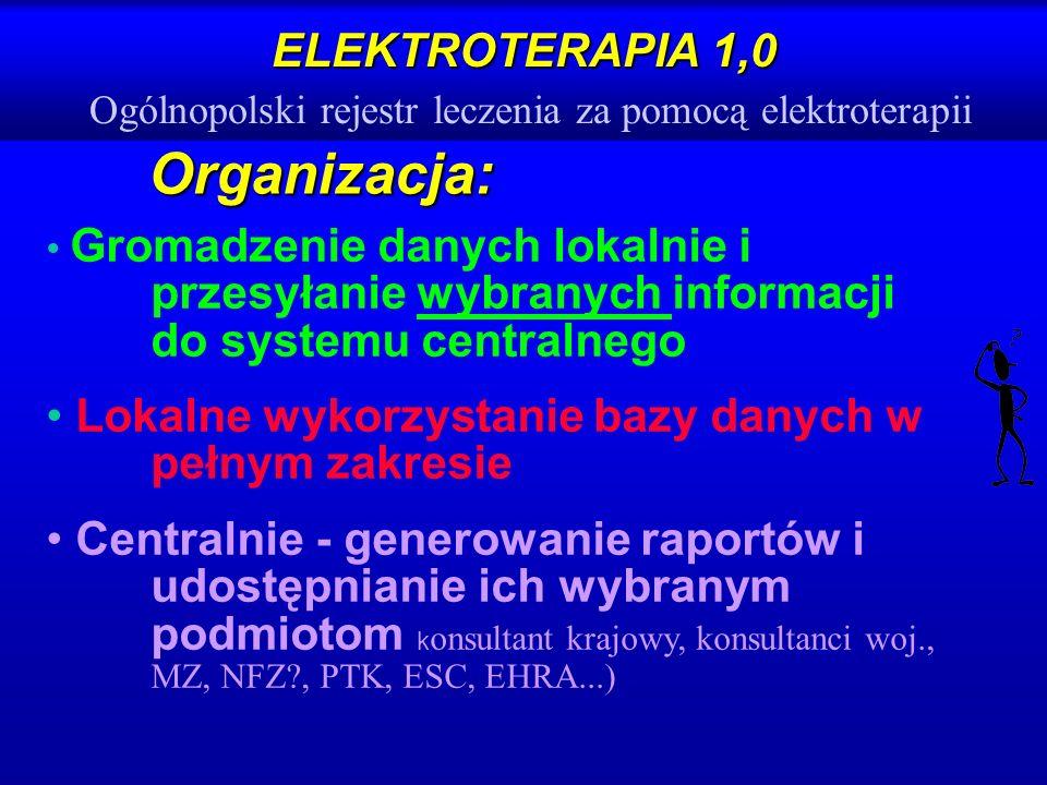 ELEKTROTERAPIA 1,0 Ogólnopolski rejestr leczenia za pomocą elektroterapii