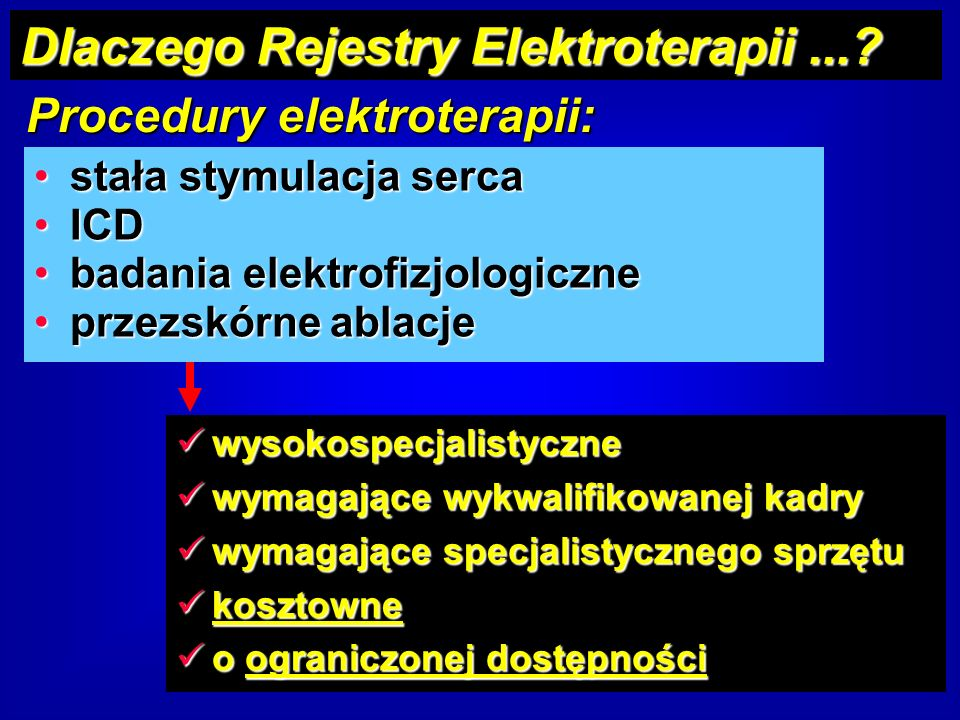 Procedury elektroterapii: