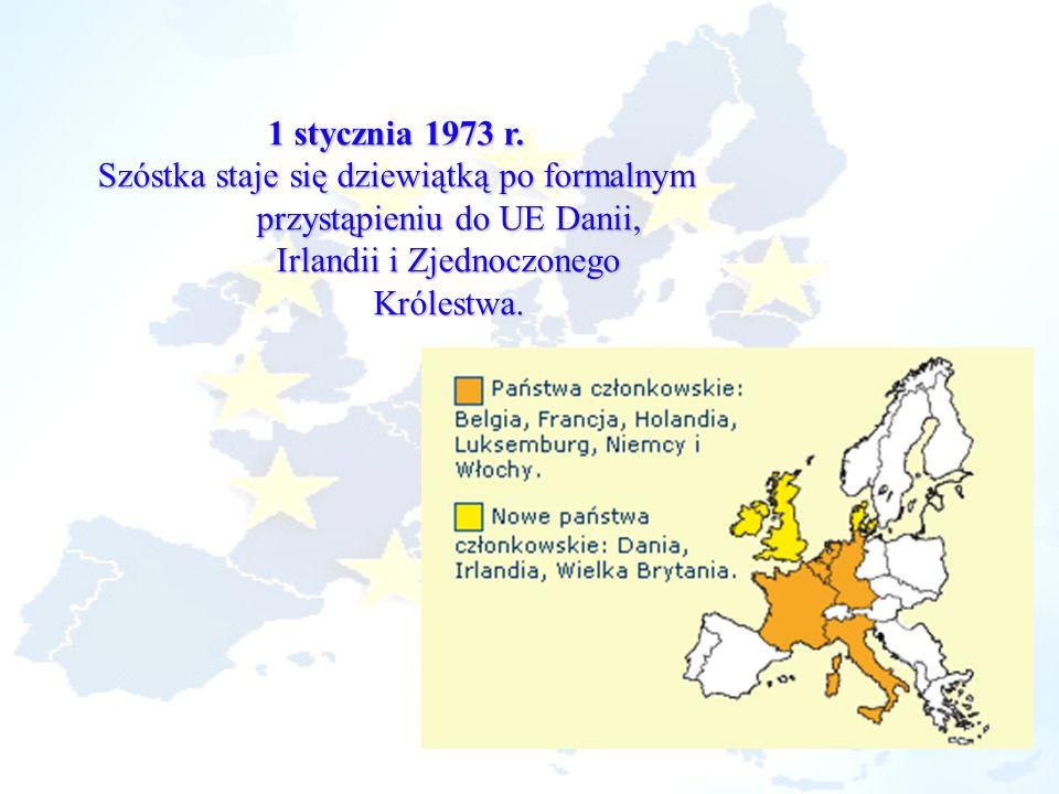 Szóstka staje się dziewiątką po formalnym przystąpieniu do UE Danii,