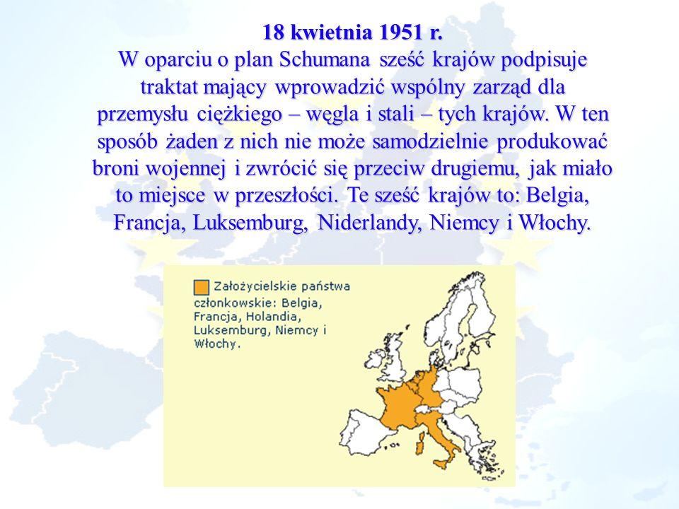 W oparciu o plan Schumana sześć krajów podpisuje