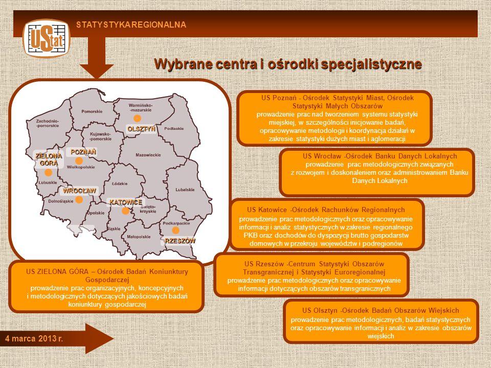 Wybrane centra i ośrodki specjalistyczne