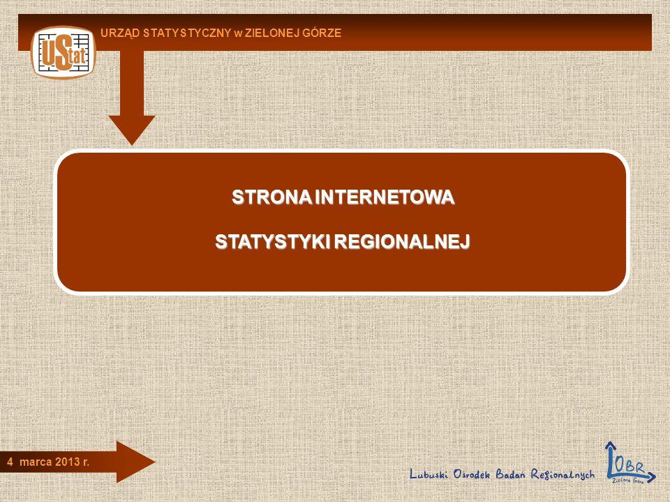 STATYSTYKI REGIONALNEJ