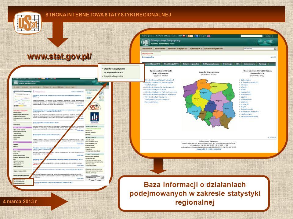 STRONA INTERNETOWA STATYSTYKI REGIONALNEJ