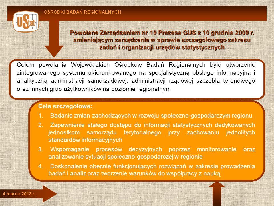 Powołane Zarządzeniem nr 19 Prezesa GUS z 10 grudnia 2009 r.