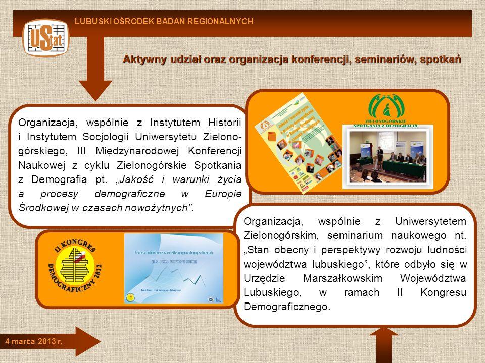 Aktywny udział oraz organizacja konferencji, seminariów, spotkań
