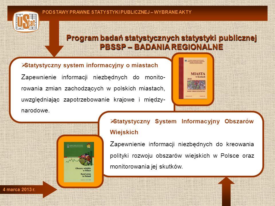 Program badań statystycznych statystyki publicznej