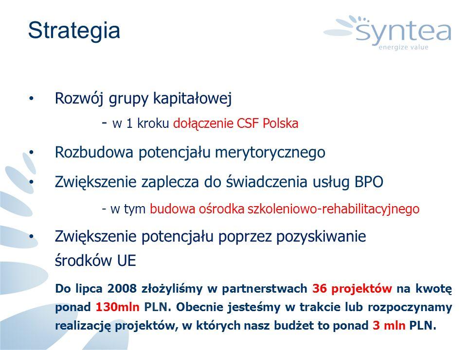 Strategia Rozwój grupy kapitałowej - w 1 kroku dołączenie CSF Polska