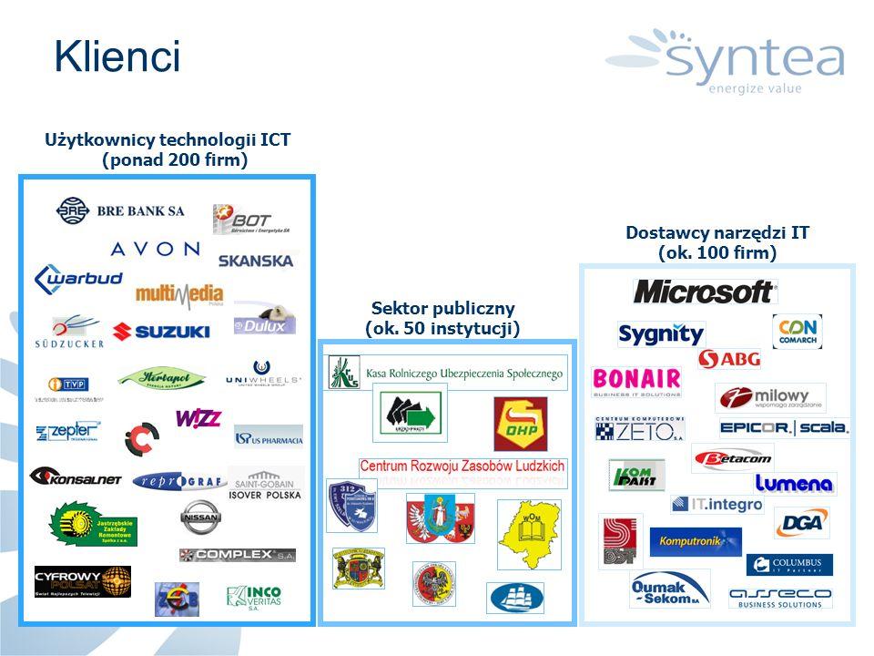 Klienci Użytkownicy technologii ICT (ponad 200 firm)