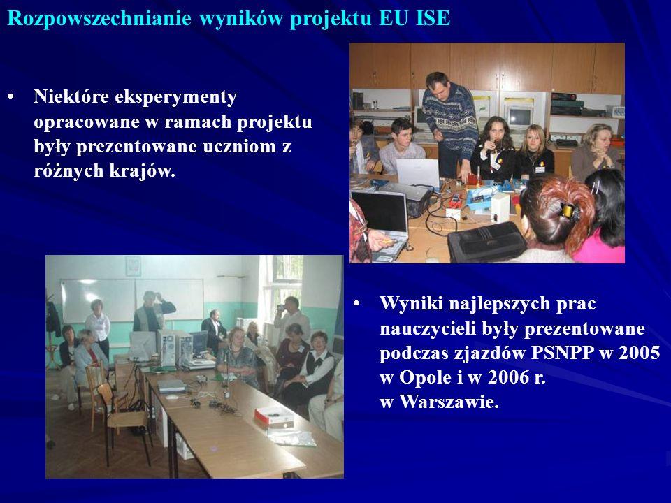 Rozpowszechnianie wyników projektu EU ISE