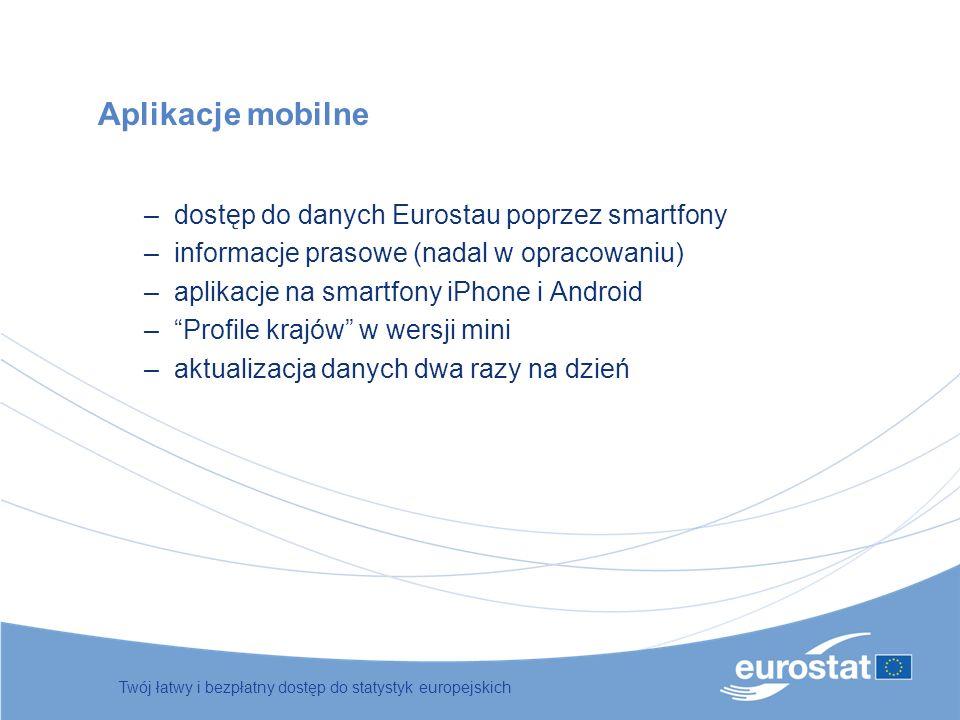 Aplikacje mobilne dostęp do danych Eurostau poprzez smartfony