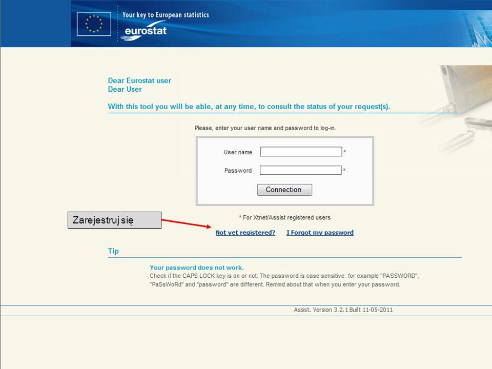 Zarejestruj się Twój łatwy i bezpłatny dostęp do statystyk europejskich