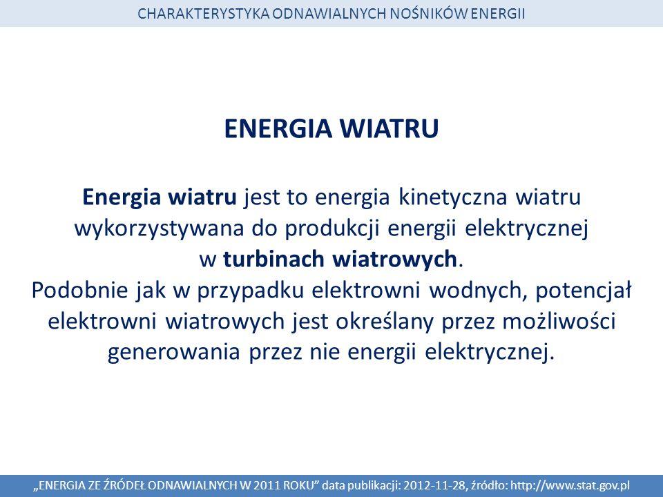 CHARAKTERYSTYKA ODNAWIALNYCH NOŚNIKÓW ENERGII