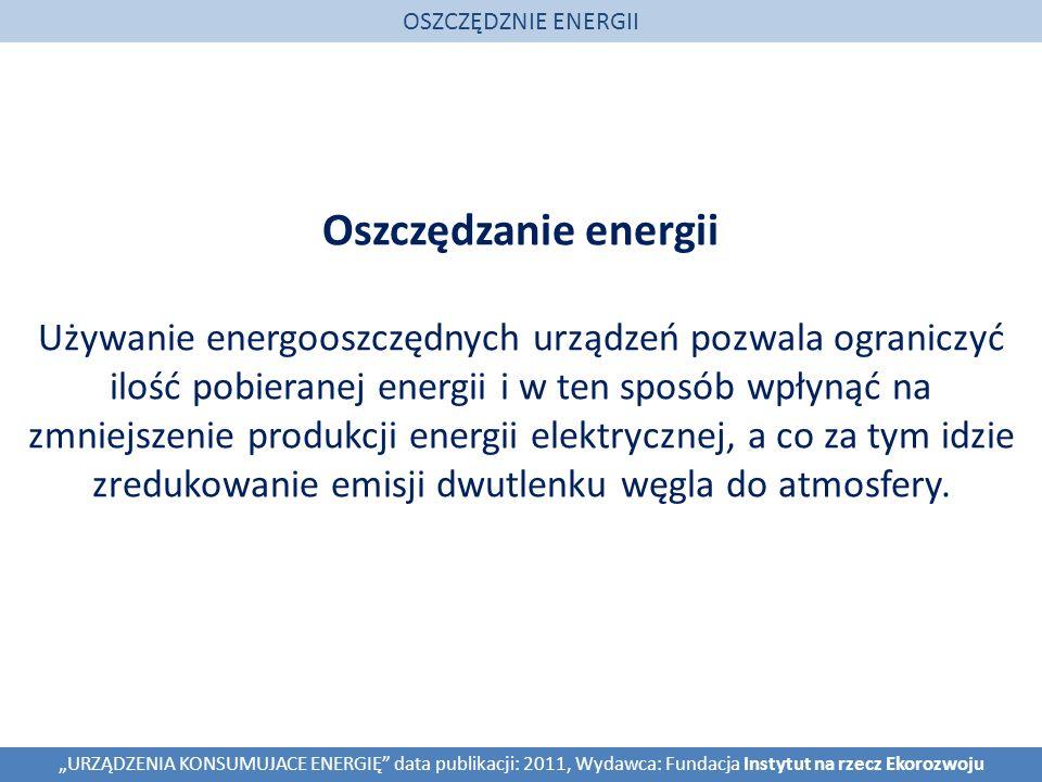 OSZCZĘDZNIE ENERGII