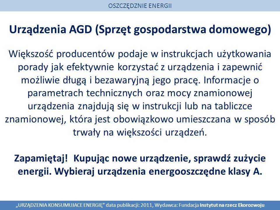 Urządzenia AGD (Sprzęt gospodarstwa domowego)