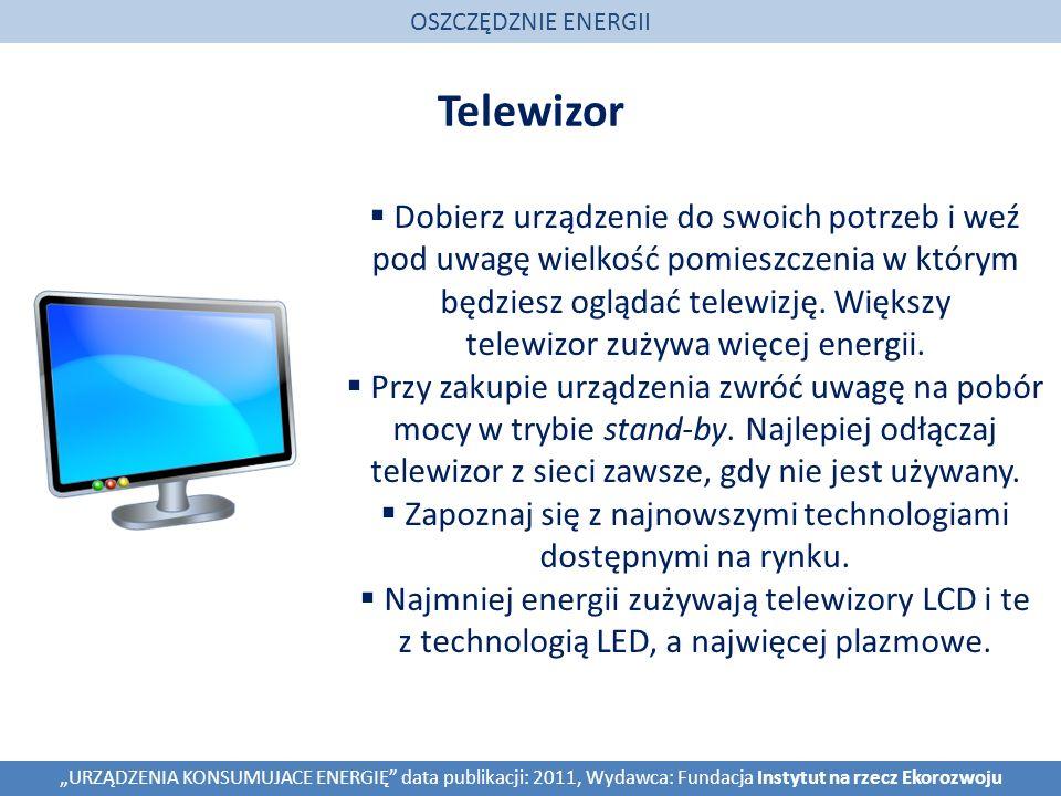 OSZCZĘDZNIE ENERGII Telewizor.