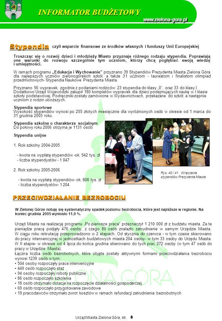 INFORMATOR BUDŻETOWY www.zielona-gora.pl Stypendia