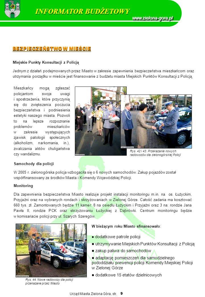 INFORMATOR BUDŻETOWY www.zielona-gora.pl BEZPIECZEŃSTWO W MIEŚCIE