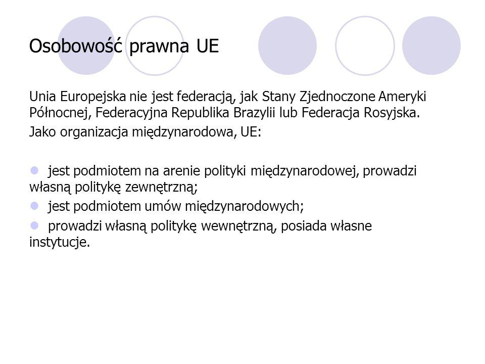 Osobowość prawna UE