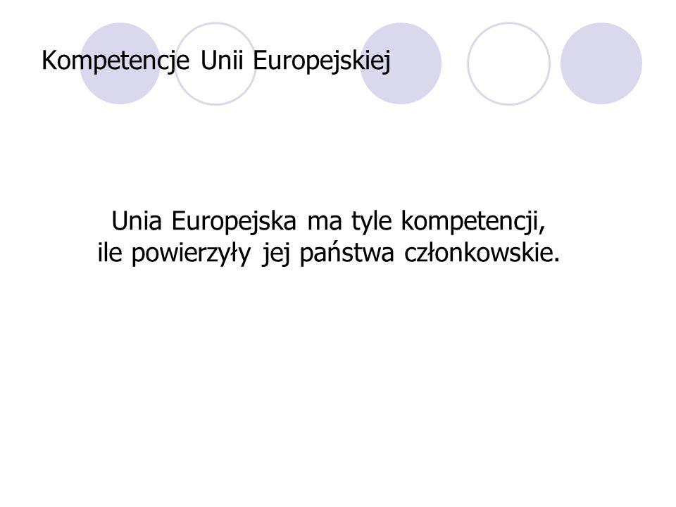 Kompetencje Unii Europejskiej