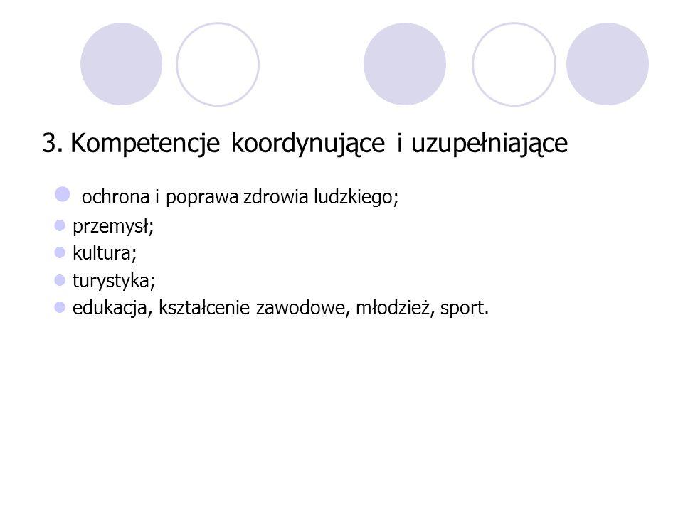 3. Kompetencje koordynujące i uzupełniające