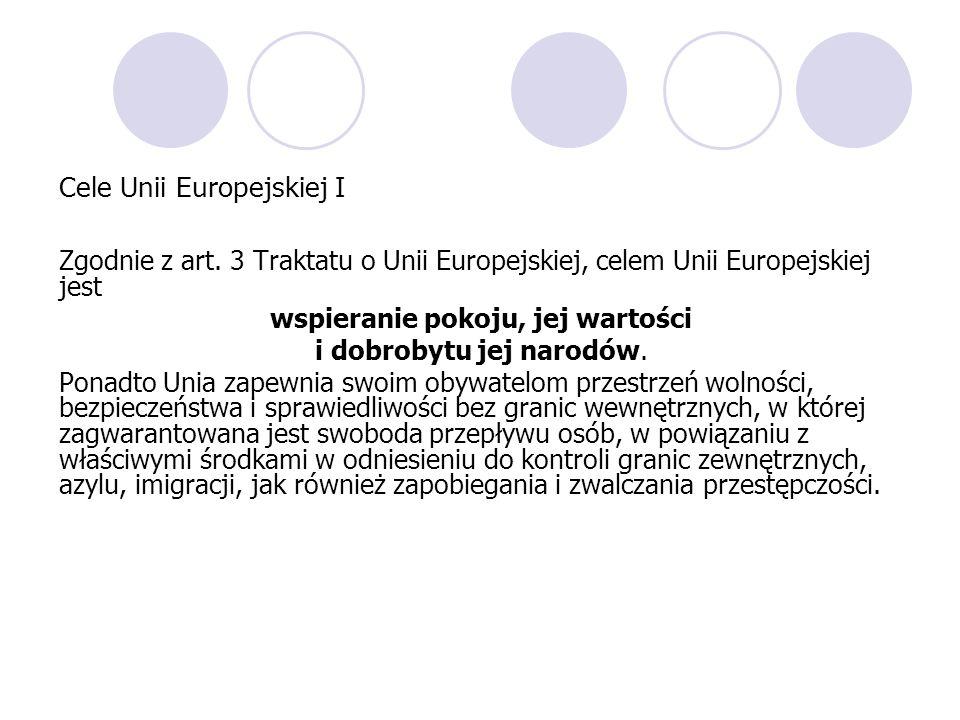 Cele Unii Europejskiej I