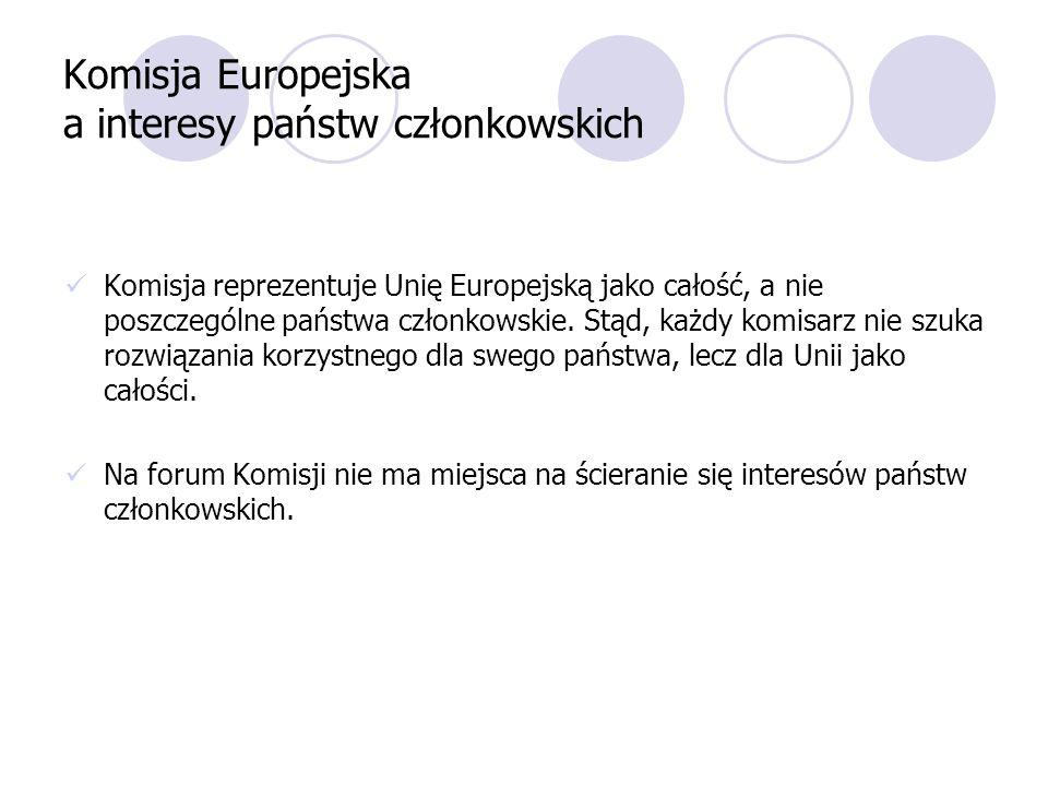 Komisja Europejska a interesy państw członkowskich